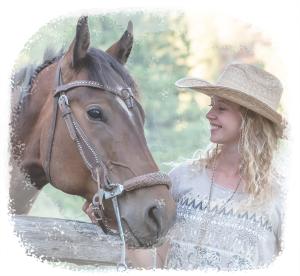 Girl Smiling at Horse